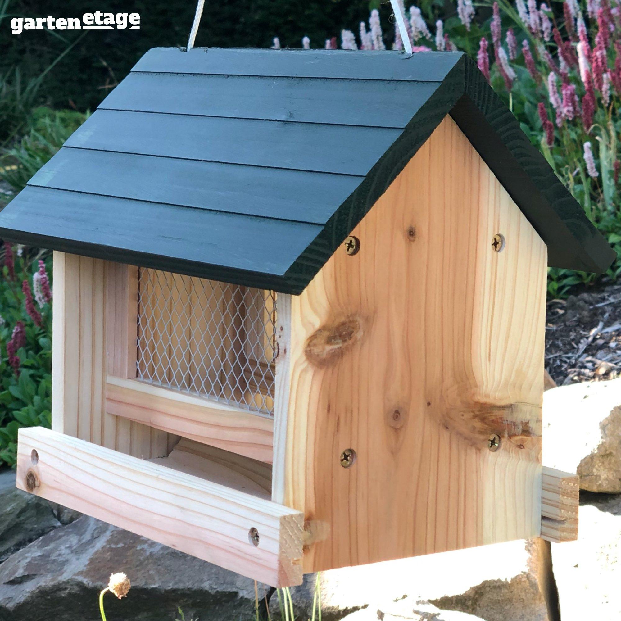 vogelhaus bausatz mit futtersilo online kaufen
